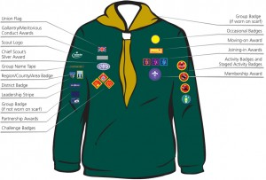 Cub Badge location - Click to enlarge