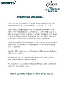 Scouts - Operation Goodwill